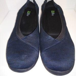 Zibu Womens shoes blue size 9.5 M Blue/Grey/Black